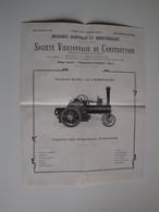 """Agriculture,Société Vierzonnaise De Construction,machines Agricoles,locomotive Routière """"""""La Vierzonnaise""""1913 - Agricultura"""