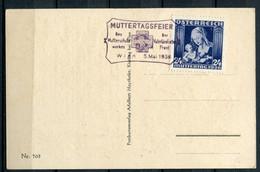 """Österreich,Austria 1936 CPSM S/w  AK""""Muttertag""""mit Mi.Nr.627 U.ESST""""Wien-Muttertagsfeier-des Mutterschutzbundes """"1 Karte - Giorno Della Mamma"""