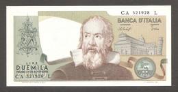 """Italia - Banconota Non Circolata FDS UNC Da 2000 Lire """"Galileo"""" P-103b - 1976 #19 - 2000 Lire"""