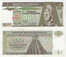 Banknote Guatemala ½ Quetzales 1983 Pick-65 Unc (US$14) - Guatemala