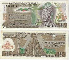 Banknote Guatemala ½ Quetzales 1979 Pick-58cFE Withslight Yellowish Spots (US$14) - Guatemala