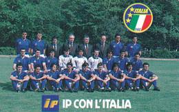 ITALY - National Football Team 1990, IP Con L'Italia, SIP Promotion Telecard(omaggio), Tirage 27000, Mint - Private-Omaggi