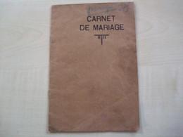 Ancien Carnet De Mariage De  JUMET     époux REMY Alfred Et VILLEIN Rosa 1903 - Other