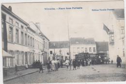Vilvoorde - Jan Portaels Plein (met Tram In Stadsbeeld) (gelopen Kaart Met Zegel) - Vilvoorde