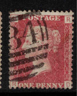 GB 1864 1d Red QV Plate = 104 SG 43 U #BRY14 - Used Stamps
