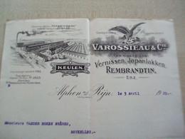 Ancien Reçu VAROSSIEAUX &CIE ALPHEN - Holanda