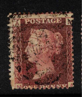 GB 1864 1d Red QV Plate = 107 SG 43 U #BRY6 - Used Stamps