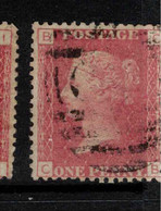 GB 1864 1d Red QV Plate = 113 SG 43 U #BRY3 - Used Stamps