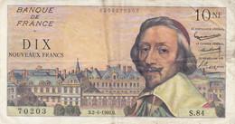 Billet 10 F Richelieu Du 2-6-1960 FAY 57.08 Alph. S.84 - 10 NF 1959-1963 ''Richelieu''