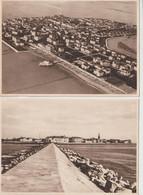 2 Cartoline Grado Presso Gorizia  Panorama Sul Villagio  E Dalla Scogliera   Ed Zuliani - Gorizia