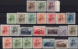 Luxembourg Luxemburg 1922/1927 Différents Timbres  OFFICIEL Noir Neuf MNH** - Unused Stamps