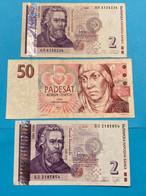 3 Billets De République Tchèque / Billets Du Monde / Collection - Tschechien