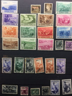 ITALIA   : SELECTION OF Stamps    On 1 PAGE  MH  And Some Cancelled AMG( LOT 10 ) - Verzamelingen