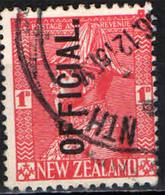 NUOVA ZELANDA - 1927 - RE GIORGIO V IN UNIFORME - USATO - Officials