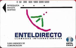 Chile - Entel (Tamura) - Enteldirecto (Bronze Reverse), 5.000$, Used - Cile
