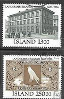 Iceland 1986 Sc#626-7  National Bank Set  Used   2016 Scott Value $10.80 - Oblitérés
