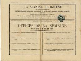 FRANCE - 1874 (28 Juin) Yv.50 Obl. Typographique + TàD D'Angoulême Sur Périodique Non Politique Dans Le Rayon Limitrophe - 1849-1876: Periodo Clásico