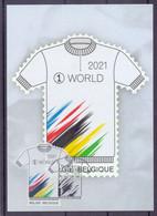 Belgie - 2021 ** 100 Ste WK Wielrennen - Stempel 1ste Dag - 30-08-2021 ** - 2011-..