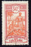OCEANIE  ( POSTE ) : Y&T N°  52  TIMBRE  BIEN  OBLITERE . A  SAISIR . - Used Stamps