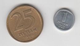 ISRAEL 25 AND 1 AGOROT - Israel