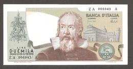 """Italia - Banconota Non Circolata FDS UNC Da 2000 Lire """"Galileo"""" P-103a - 1973 #19 - 2000 Lire"""