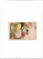 Carte Postale Ancienne Joyeuses Pâques  Famille à Tête D'oeuf - Pâques