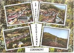 EN AVION AU-DESSUS DE ... CORNIMONT (88) Multivues De 1964  CPSM GF - Cornimont