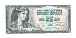 *jugoslavia 5 Dinara 1968   81 Unc - Yugoslavia