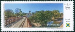 BRAZIL 2021  -  UPAEP TOURISM -  CITY OF PIRENÓPOLIS - BRIDGE - RIVER - MINT - Unused Stamps