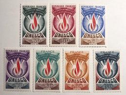 Série U.N.E.S.C.O N°39 à 45 Neufs** - Mint/Hinged