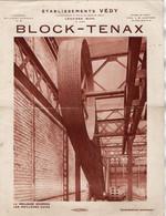 VP18.291 - Document Publicitaire - Block - Tenax / Etablissements VEDY à LOUVIERS , PARIS & BEAUMONT LE ROGER - Pubblicitari