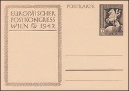 P 294a Europäischer Postkongreß Wien 1942 Ohne Aufdruck, ** Wie Verausgabt - Ganzsachen