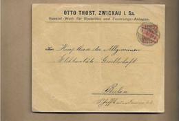 Ganzsachenbrief Aus Zwickau 1900 - Cartas
