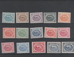 Tunisie Yvert Série 337A à 345A ** Neufs Sans Charnière - Nuevos