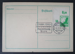 Deutsches Reich 1939, Postkarte - Antibolschewistische Ausstellung WIEN Mi 529 - Briefe U. Dokumente