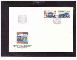 TEM15053  -  OSLO 23.9.1994   /   NORVEGIA  FDC  COMPLETE SET  MICHEL NR. 1163/1164 - Trains