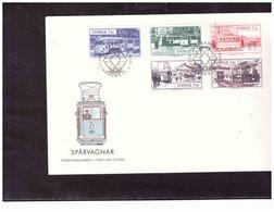 TEM15082  -  HELSINGBORG 12.5.1995  /    SVEZIA  FDC     -  MICHEL NR.  1889/1893 - Trains