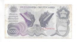 *jugoslavia 500000 Dinara 1989   98 - Yugoslavia