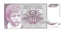 *jugoslavia 50 Dinara 1990   104  Unc - Yugoslavia