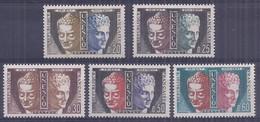 Francia 1960. YT = Ser 22-26 -  (**). Unesco - Mint/Hinged