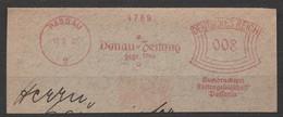 Deutsches Reich Briefstück Mit Freistempel Passau 1931 Donau Zeitung - Poststempel - Freistempel