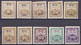 Tschechoslowakei CSSR Abstimmung Oberschlesien - Portomarken Mi.Nr. 1 - 11 - Ungebraucht Mit Gummi Und Falzrest MH - Other