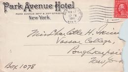 USA - ENVELOPE PARK AVENUE HOTEL, NY / PR92 - Covers & Documents