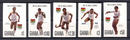 Ghana, 1984, Olympic Summer Games Los Angeles, Running, Boxing, Hockey, Hurdles, Gymnastics, MNH Imp, Michel 1048-1052B - Ghana (1957-...)
