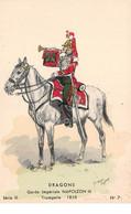 Illustrateur - N°61816 - Maurice Toussaint - Dragons Garde Impériale Napoléon III Trompette 1858 - Série III N°7 - Otros Ilustradores