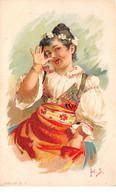 Illustrateur - N°68362 - Jeune Fille Tirant La Langue - Autres Illustrateurs