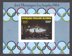 Congo Brazzaville, 1984, Olympic Summer Games Los Angeles, Boxing, MNH Imperforated, Michel Block 35B - Non Classés