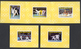 Congo Brazzaville, 1984, Olympic Summer Games Los Angeles, Judo, Wrestling, Fencing, MNH Deluxe Sheets, Michel 946-950B - Non Classés