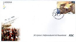 Kosovo Stamps 2021. 30th Ann. Of The Independence Referendum. FDC MNH - Kosovo