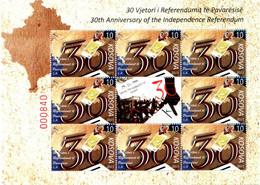 Kosovo Stamps 2021. 30th Ann. Of The Independence Referendum. Mini Sheet MNH - Kosovo